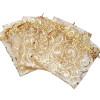 100pcs Champagne Eyelash Organza Drawstring Pouches Jewelry Party Wedding Favor Gift Bags 3.5″X4.3″