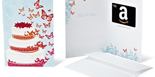 Amazon.com Gift Card with Greeting Card – $25 (Wedding)