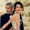 Amal and George Clooney Looked Like Actual Wedding Cake Toppers at a Royal Dinner