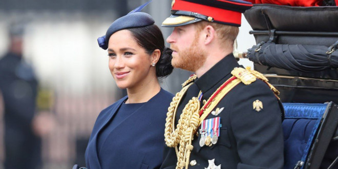 Meghan Markle Made Her First Post-Baby Appearance In Public At Trooping the Colour