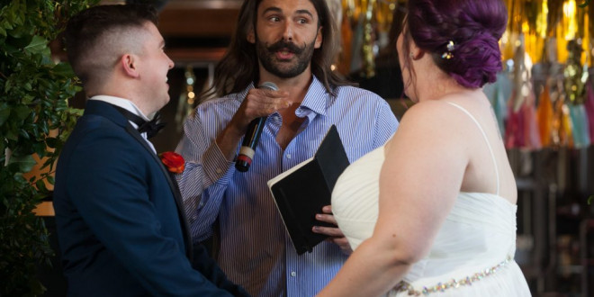 Jonathan Van Ness Officiated a Wedding—and It Was Fabulous, Honey