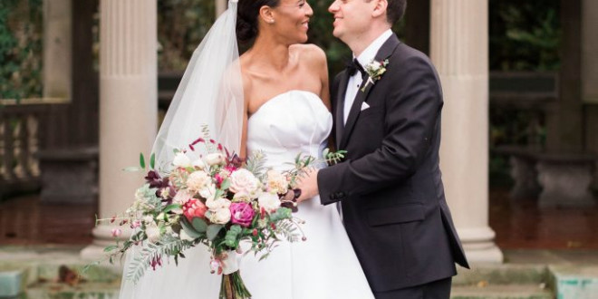 A Classic Connecticut Wedding Featuring Two Custom Bridal Gowns by Brandon Maxwell