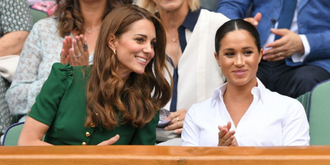 Meghan Markle and Kate Middleton Hung Out At Wimbledon