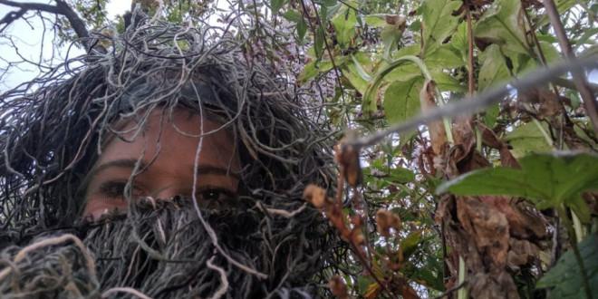Woman Dresses as a Bush to Capture Sister's Engagement in Secret