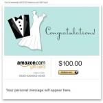 Amazon eGift Card - Wedding (Dress and Tux)